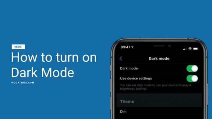 dark mode in Google apps