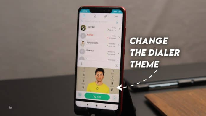How to change the dialler pad background image