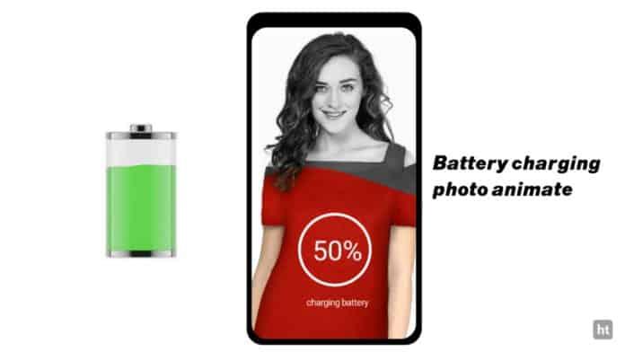 Battery charging photo app