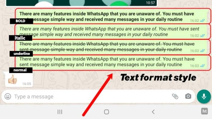 Tips and tricks of Whatsapp format text