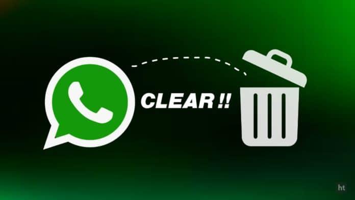 Clear WhatsApp cache data