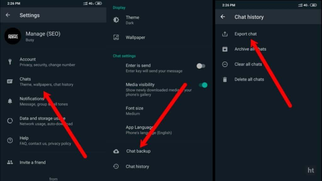 export Whatsapp chat