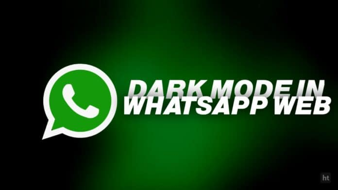 WhatsApp web dark theme