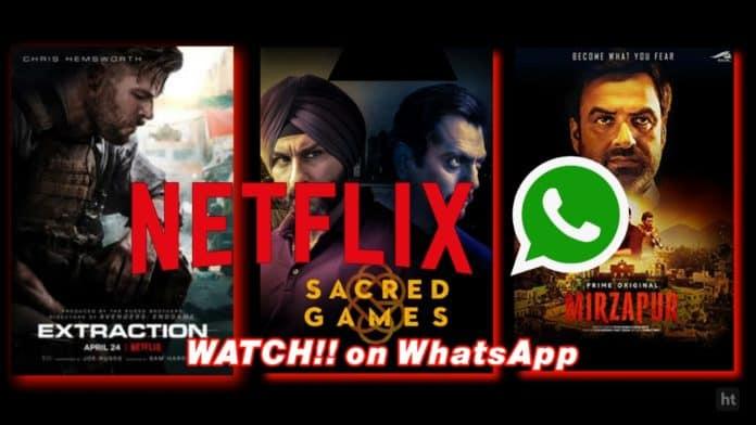 Netflix and WhatsApp