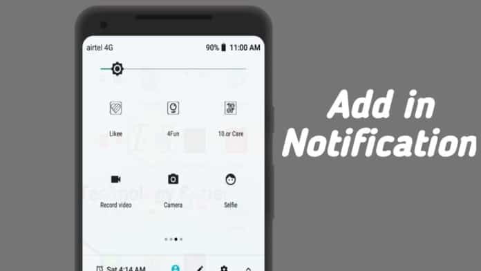 add app websites in notification