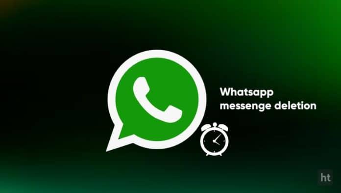 whatsapp message deletion