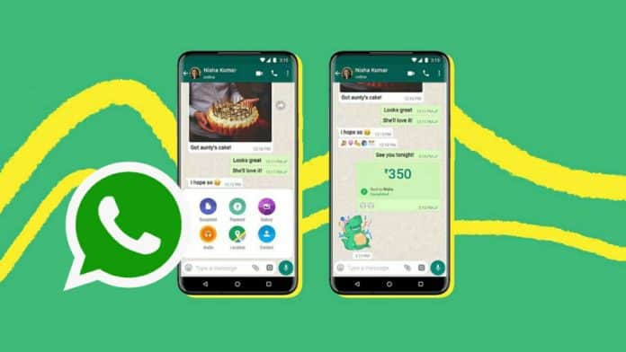 WhatsApp new payment chat shortcut