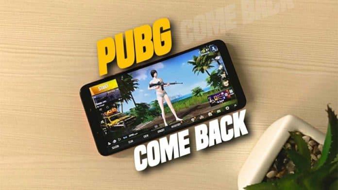 PUBG Mobile game come back