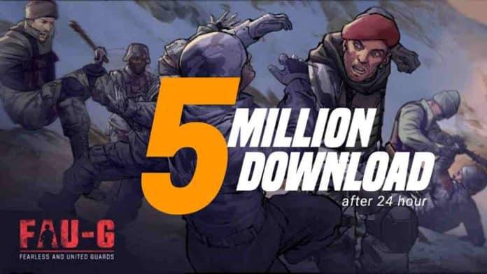 FAU-G game 5 Million Downloads