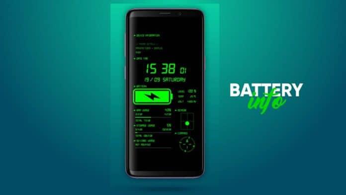 Phone & Battery Info Wallpaper