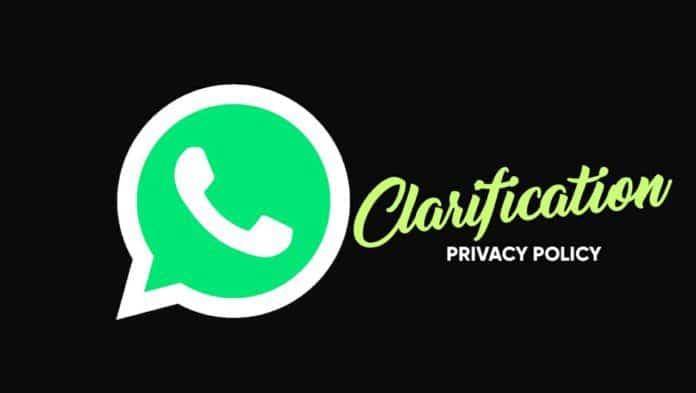 WhatsApp provide Clarification