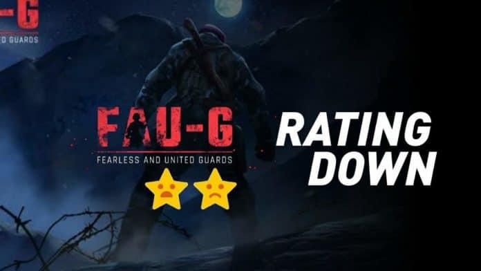 FAU-G game rating falling down