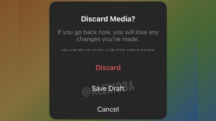 Instagram new Story Draft feature soon