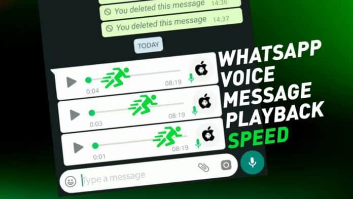 WhatsApp Voice speed for Android