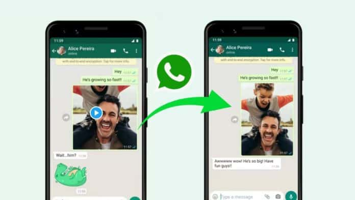 WhatsApp new bigger Photos and Videos feature