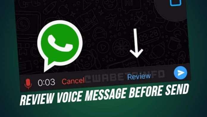 WhatsApp new Review Voice messages