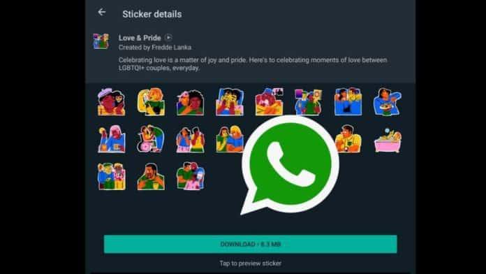 WhatsApp new Love & Pride Sticker