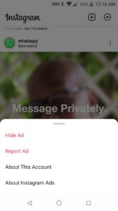 Hide unwanted ADS